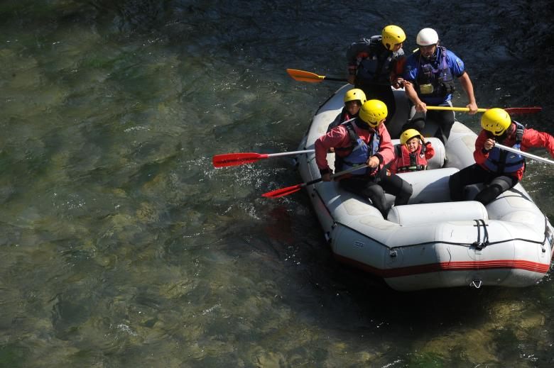 Rafting in the Park of the Nera river, between the towns of Ferentillo and Arrone